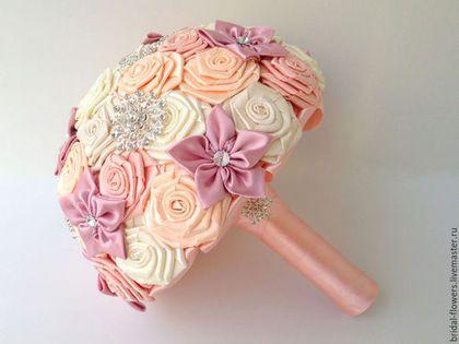 Свадебные цветы ручной работы. Заказать Брошь букет невесты. Нежность. Ксения. Ярмарка Мастеров. Букет в пастельных тонах