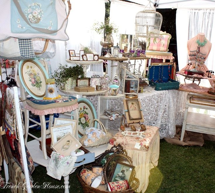 craft booth display idea - shabby chic | flea market...