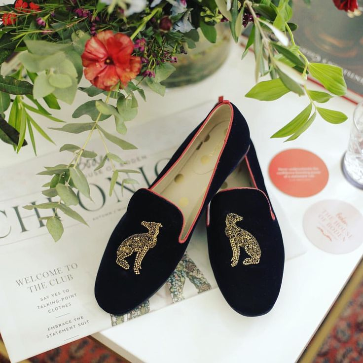 """""""Boden always does a great slipper shoe. Who doesn't want a canine companion on their feet? I love the grosgrain detailing on the edge of the shoes, too."""" More snapshots of next season, through the eyes of @CarolineIssa. Adding them to the wishlist? #BodenAW17"""