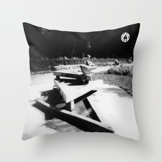 """Take a nap and have some weird but wise dreams on this pillow. """"The Fountain"""" by Fluxionist on Society6."""