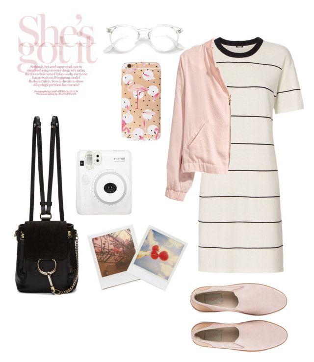 Stripes and Polaroid #Polyvore