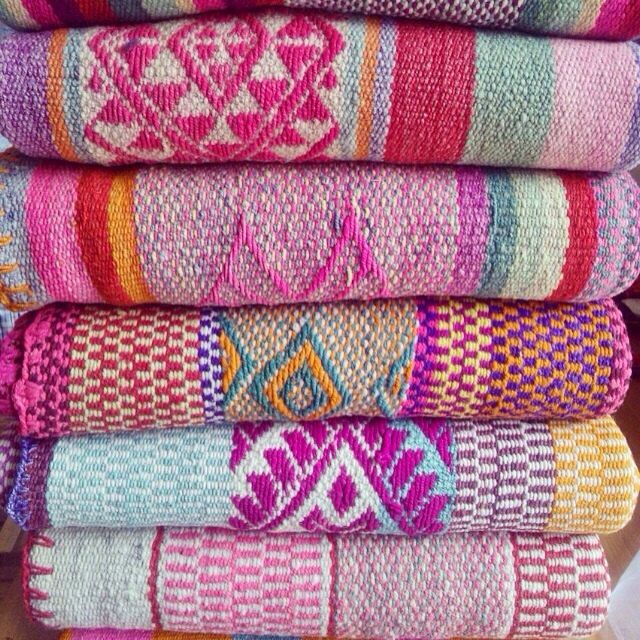 Frazadas / Andean Rugs / Colorful Blankets from Peru - You Choose! by elhummingbird on Etsy https://www.etsy.com/listing/218302416/frazadas-andean-rugs-colorful-blankets