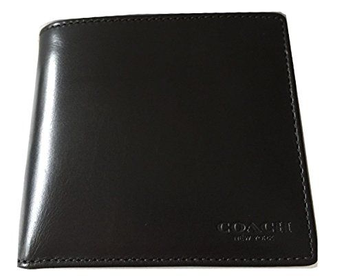 Coach Designer Shoes For Men free shipping deal  Coach Mens Water Buffalo Leather Double BilFold Mens Wallet 74396