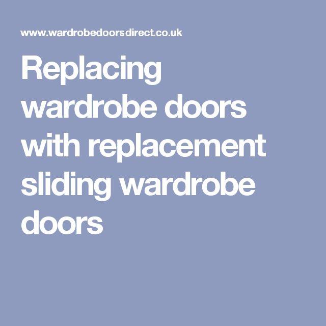 Replacing wardrobe doors with replacement sliding wardrobe doors