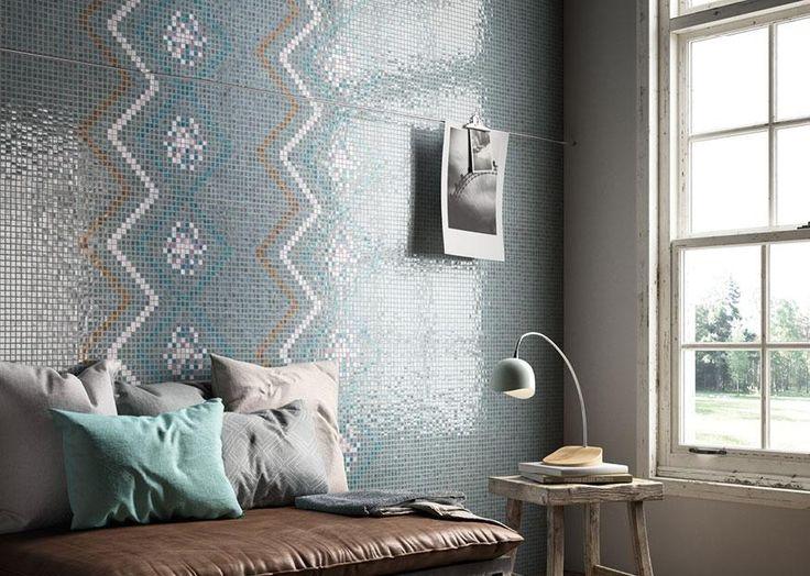 Mosaico+ Decor Collection - Seamless Smoke  #mosaicopiu #living #mosaic #mosaico #glassmosaic #decoration #walldecor #look #design #madeinitaly