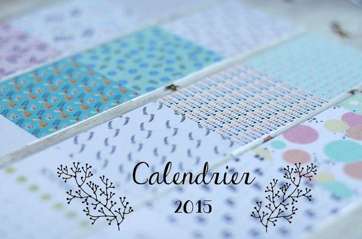 Avec un petit peu de retard, le voici, le voilà, le calendrier 2015. Cette année, je vous propose un petit format rectangulaire pour pouvoir le glisser facilement dans un cahier et s'en servir de marque-page. Chaque mois a son motif, motifs que vous avez...