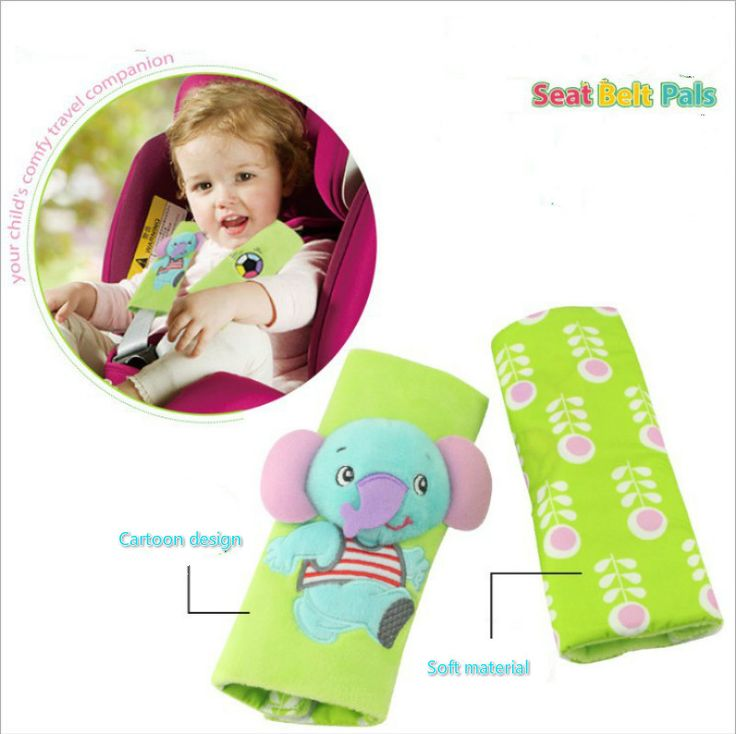 Cartoon seat belt Pal shoulder safety belts Zoo Animals security Car Seats Strollers Prams accessories carrinho poussette bebes