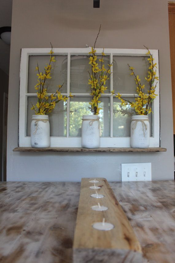 Recycled Window shelf by BnspiredDesign on Etsy