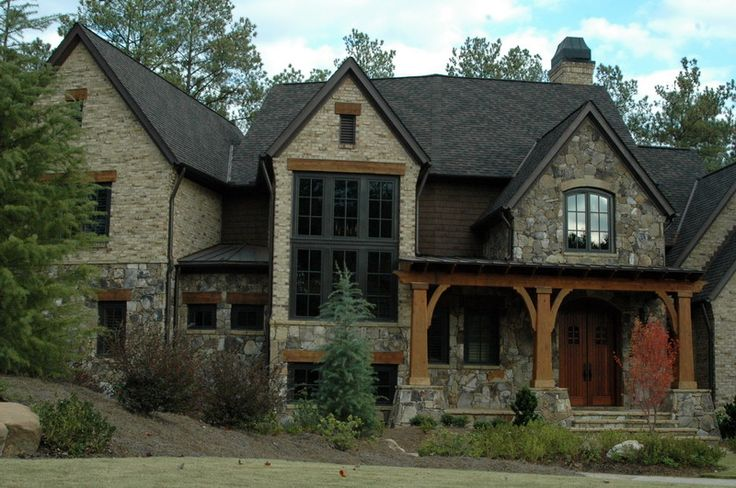 Stone brick house wishlist pinterest beautiful for Beautiful brick and stone homes