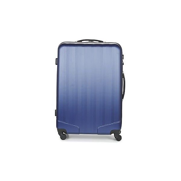 David Jones CHAUVETTA 76L Hard Suitcase ($62) ❤ liked on Polyvore featuring bags, luggage and blue