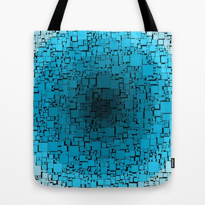 blue blocks Tote Bag