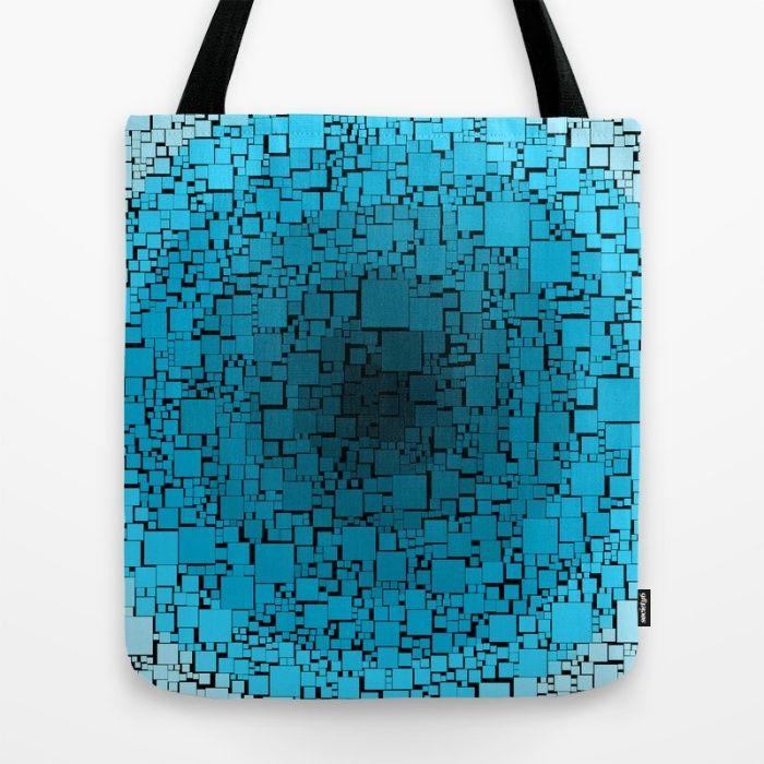 blue blocks Tote Bag