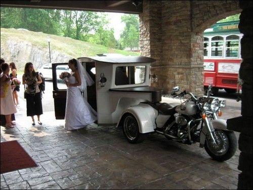 Harley Davidson Trike Wedding Limo