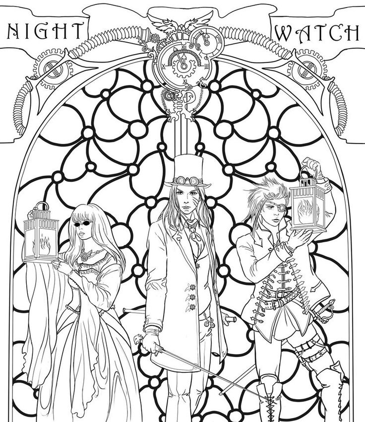 steampunk girl coloring pages - photo#14