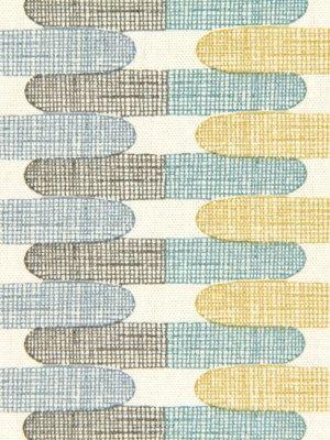 Aqua Gray Geometric Upholstery Curtain Fabric  by PopDecorFabrics