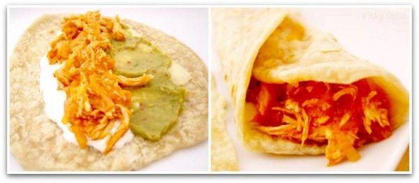 Tinga para burritos mexicanos con Thermomix