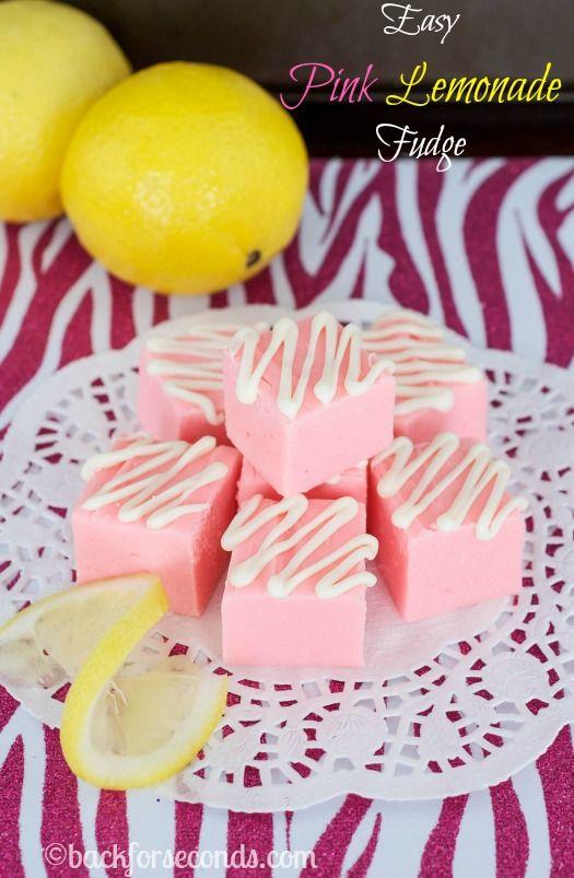 Easy Pink Lemonade Fudge