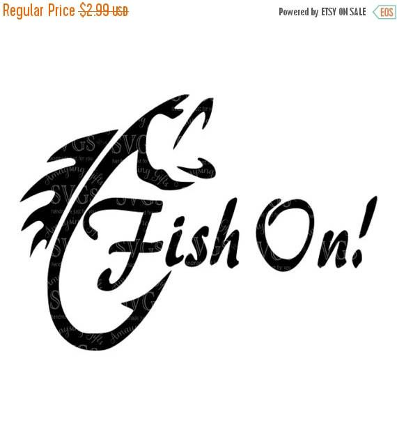 SVG - Fish On! - Digital Vector Download Awesome Design for the Fisherman in your life or customer base. Great for Tshirts, Decals, Bags, Scrapbook layouts, pallet signs, Man cave wall art and so much more!  This Design does not contain editable Text. All text sections are unioned as one piece for compatibility across software platforms.  This Listing includes: 1 SVG, 1 DXF 1 EPS & 1 PNG  For use with Cricut Explore and Silhouette cutting machines  With this purchase, you will receive a Z...