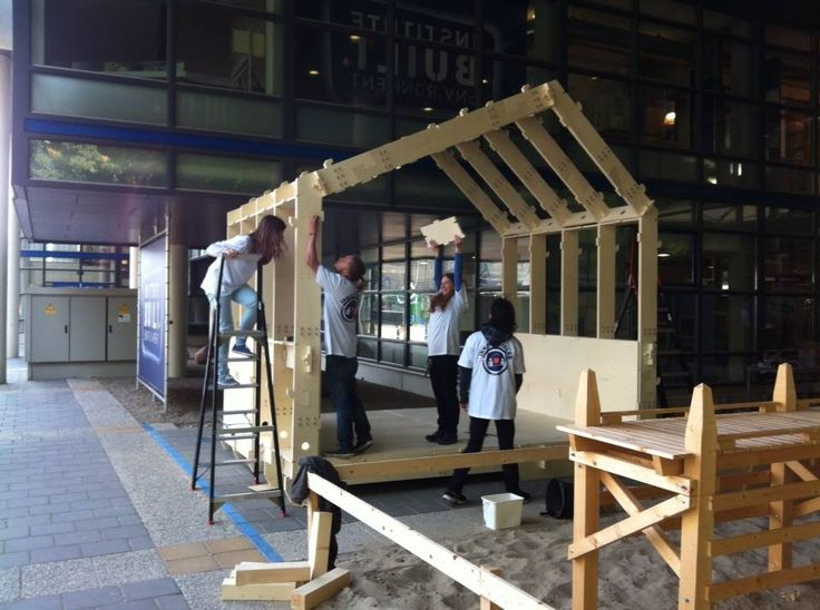 WikiHouseNL// HAN// Steve Swiggers: 40 panels plywood + 10 hours CNC + 8 students of Han + 3 hours + 1 Christiaan Holland = 1st wikihouse in Arnhem
