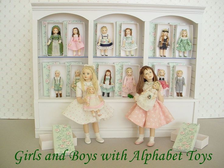 DOLLHOUSE DOLLS: Girls and Boys with Alphabet Toys by Debbie Dixon-Paver