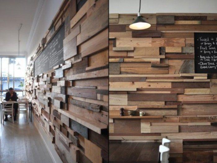 mooie manier om houten wand nuttig te maken houten wand pinterest
