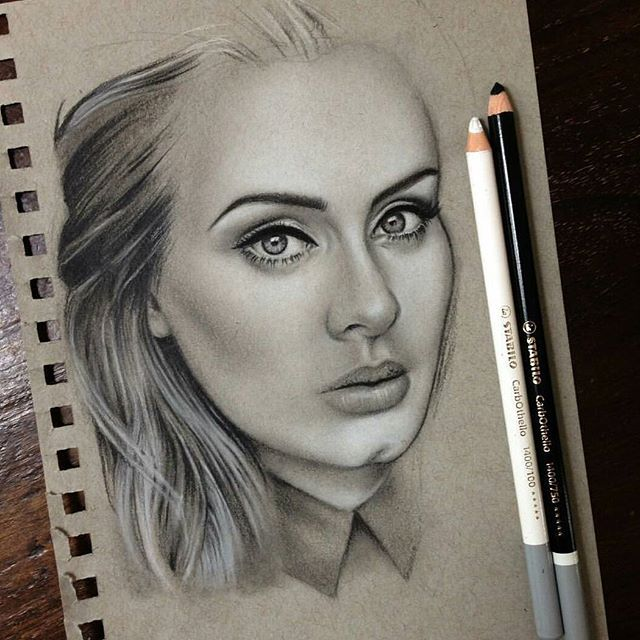 25 gorgeous pastel pencils ideas on pinterest pastel colors drawberryart created this beautiful portrait of adele using stabilo paper drawingdrawing facesgirl ccuart Images
