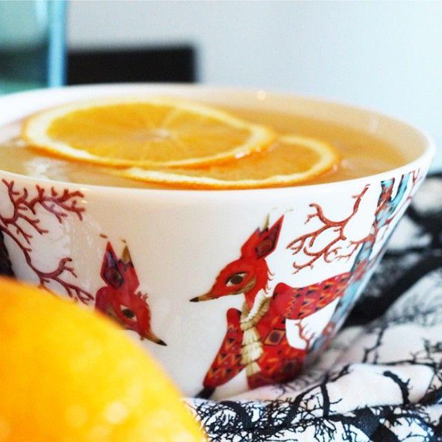 «Fruit soup. @curiousnoora #iittala #tanssi #klaushaapaniemi»