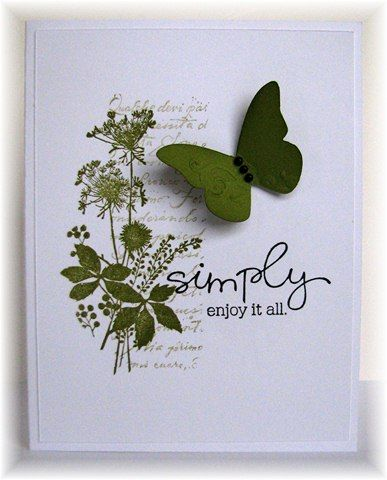 Clean & Simple.: Stamps Cards, Cards Ideas, Sympathy Cards, Color, Art Floral, Cards Butterflies, Simple Cards, Butterflies Cards, Heroes Art