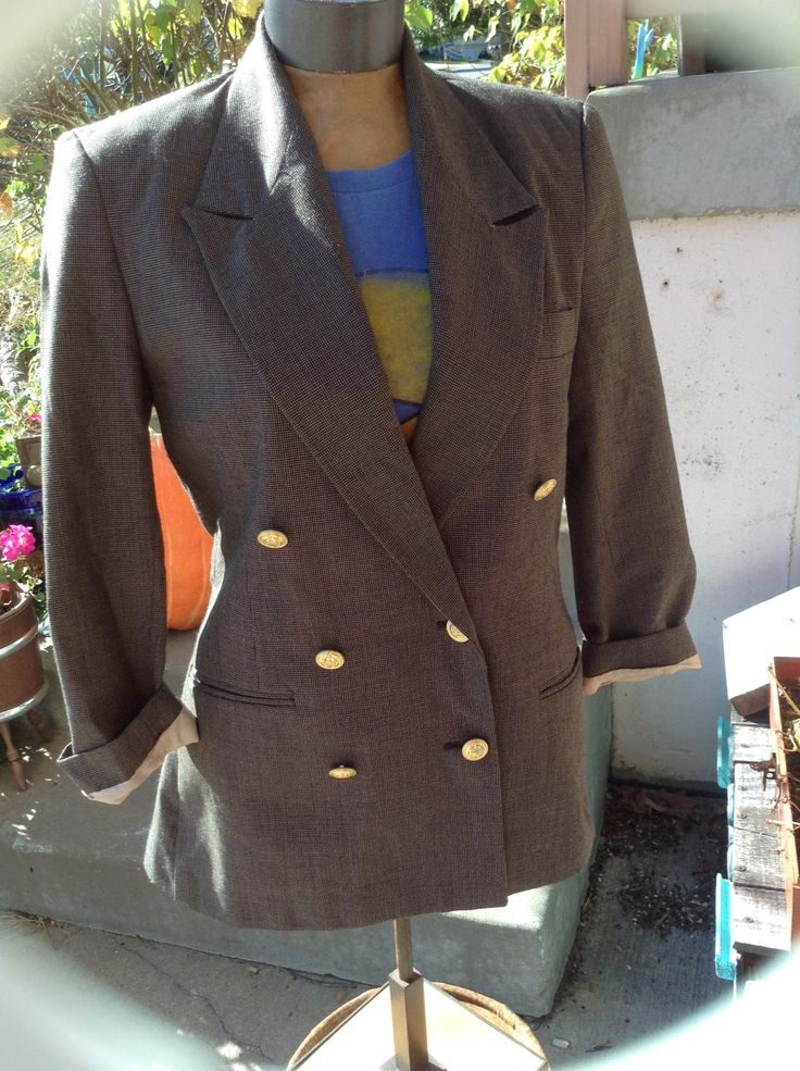 Excited to share the latest addition to my #etsy shop: Vintage hipster 80s Fashion Star ladies blazer with gold buttons Made in the USA size 6 free domestic shipping