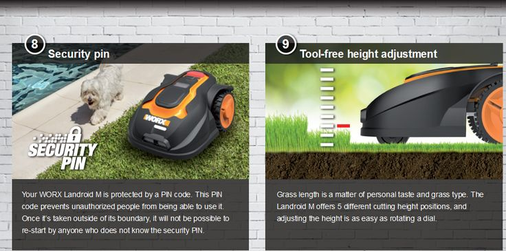 Landroid robotic the automatic lawn mower