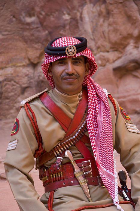 Policeman In Petra Jordan