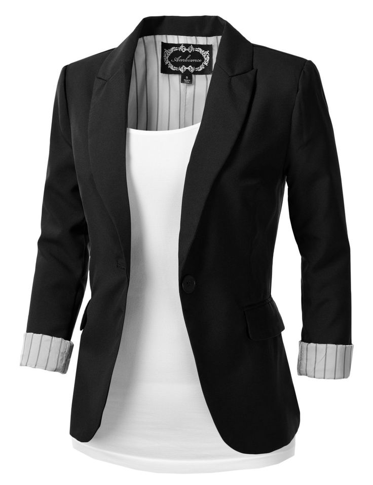 Nuevo 2018 formal mujer blazer negro, chaqueta de vestir