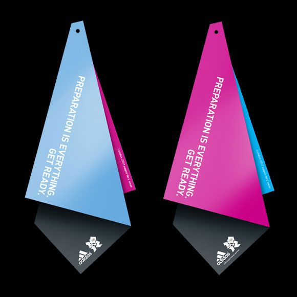 Adidas hangtag for London 2012 (love the folds)