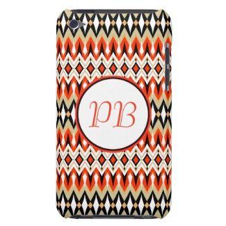 Oriental tribal rhombus native pattern monogram iPod Case-Mate case #native #tribal #classic #duogram #case #name #custom #cover #gift #elegant #classy #girly