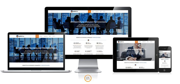 #Webdesign and #webdevelopment by Divine Digital for Applied Logic -  a new IT solutions company