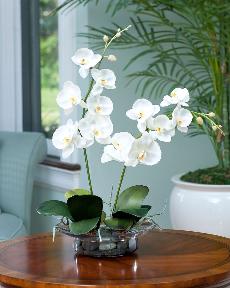 Phalaenopsis Silk Orchid Arrangement at Silkflowers.com