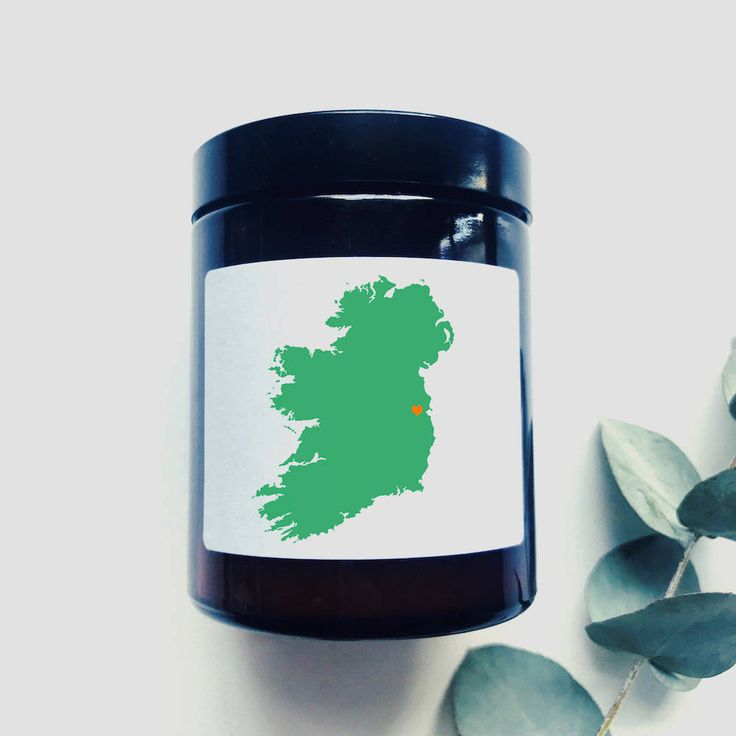 From Ireland with Love Soy Candle - Missing Ireland - Overseas Irish Gift - Customize City Place - Dublin Cork Cliffs of Moher  Souvenir by TheIrishChandler on Etsy