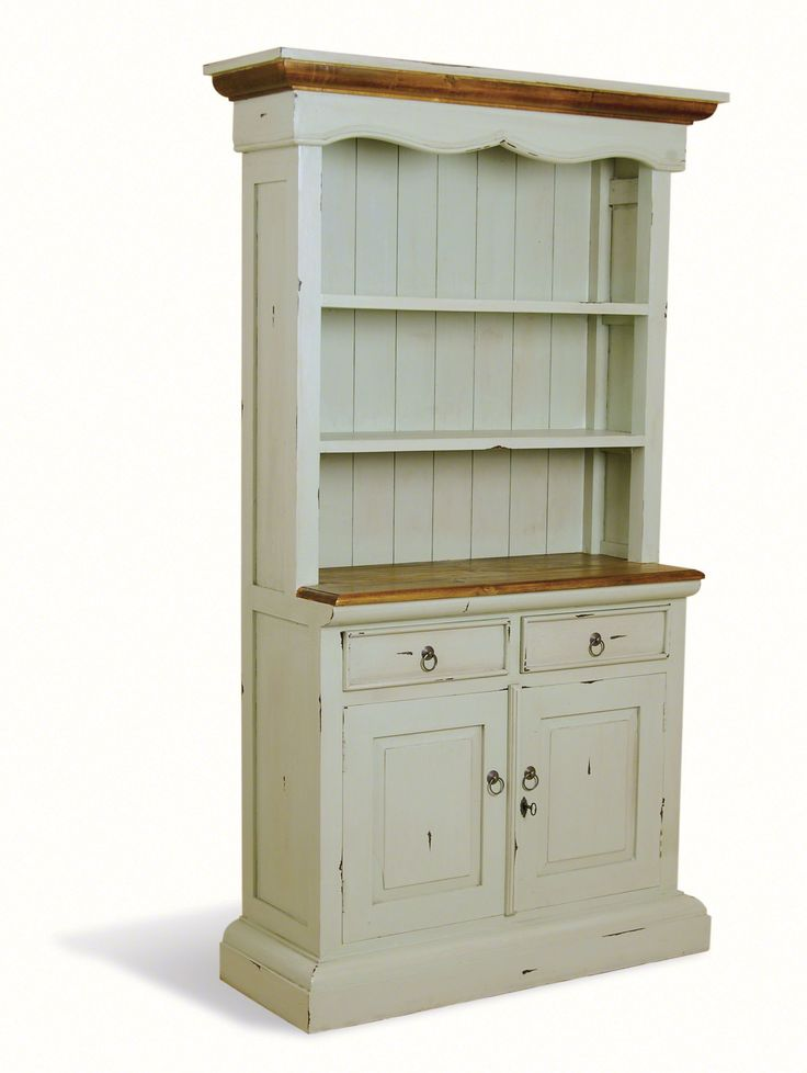 Provence painted pine kitchen dresser shabby chic for Narrow kitchen cabinet