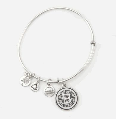 Alex and Ani Silver Hub Logo Bracelet - Only available at the Bruins ProShop.