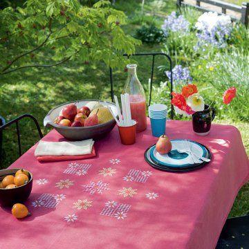 Ecco unatavolainvitante per una colazione in campagna tra ricami e profumi della natura. Rendieleganteil tavolo che hai ingiardino, pronto per uno spuntino leggero e fresco: un bel cestodi frutta fresca, un delizioso succo fatto in casa ed alcuni biscotti.