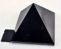 Piramide Cristal Negro Pedra Quartzito Medidas Baseadas em Queops Cod 610.6