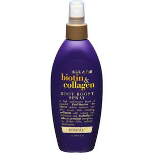 Organix Biotin & Collagen Root Boost Spray, 6 fl oz  Just tried this today...and I am in love. My fine, thin hair as a result of hypothyroidism is a drag. A little of this stuff goes a long way, and it is good for my hair!