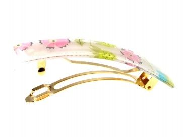 This elegant barrette is perfect for Spring!