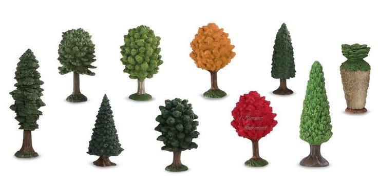 10 figurines arbres
