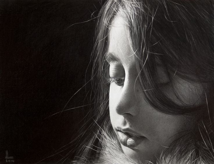 Lorenzo Bovo - Laura - graphite on paper