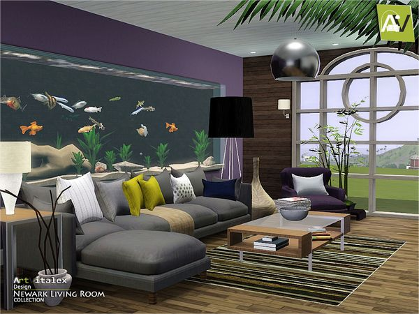 Newark Living Room by ArtVitalex - Sims 3 Downloads CC Caboodle