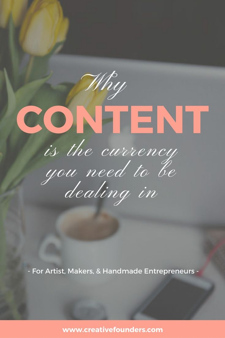 Why content is the currency you need to be dealing in // content marketing // blogging // blogging tips