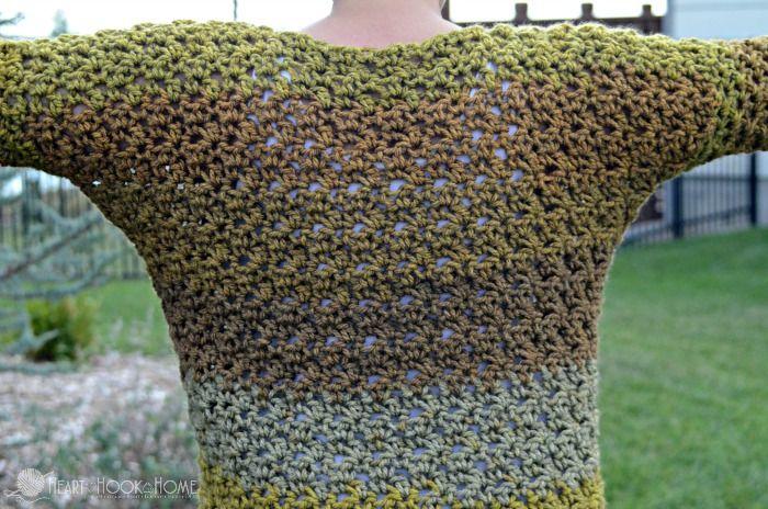 Dolman style crochet top fall sweater