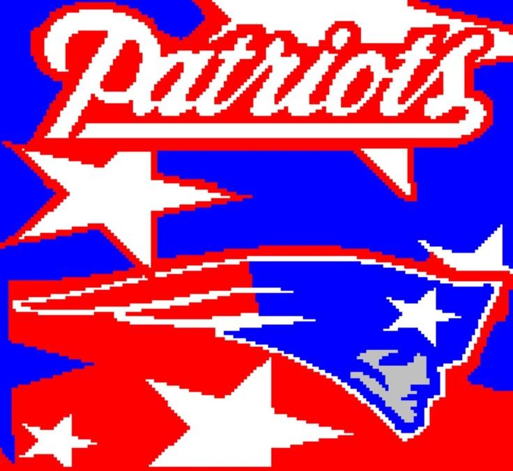 Pattern Crocheted Patriots Logo