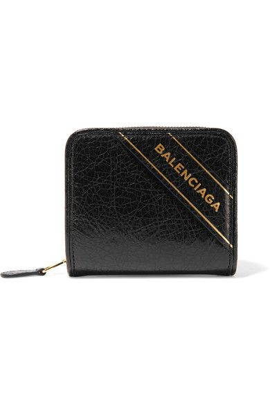 Balenciaga - Embossed Textured-leather Wallet - Black - AVAILABLE HERE: http://rstyle.me/~9YTdO